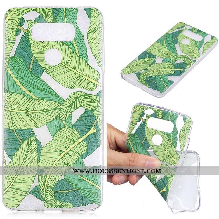 Étui Lg G6 Silicone Protection Dessin Animé Téléphone Portable Vert Tendance Verte