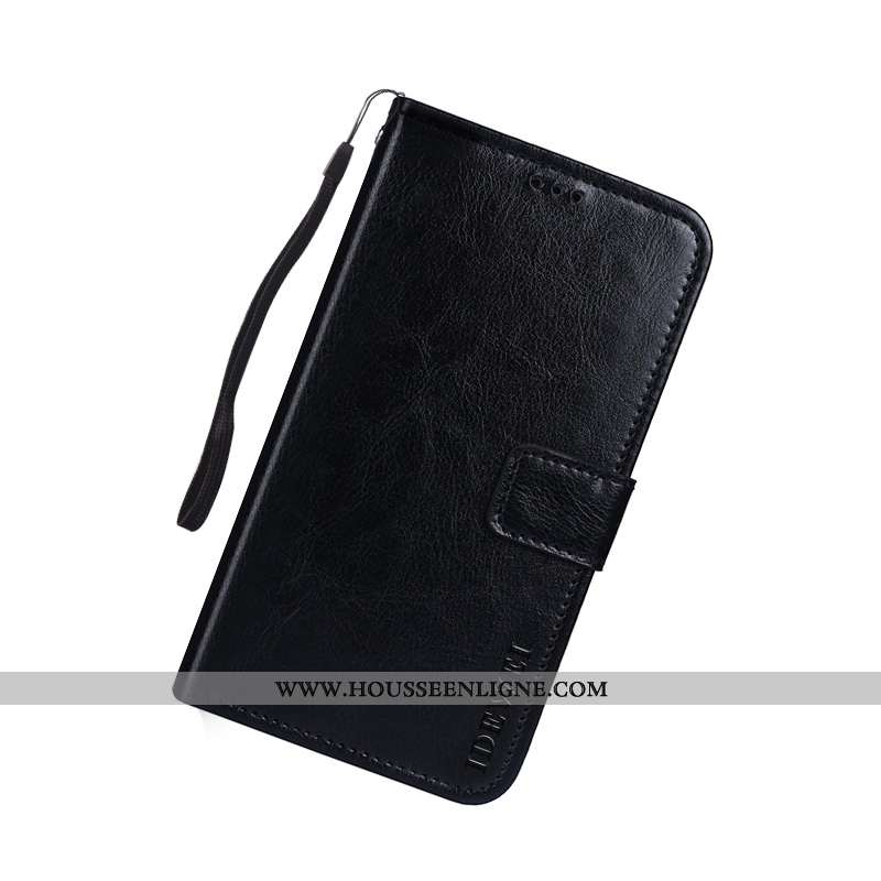 Étui Lg K11 Portefeuille Cuir Créatif Support Téléphone Portable Housse Noir