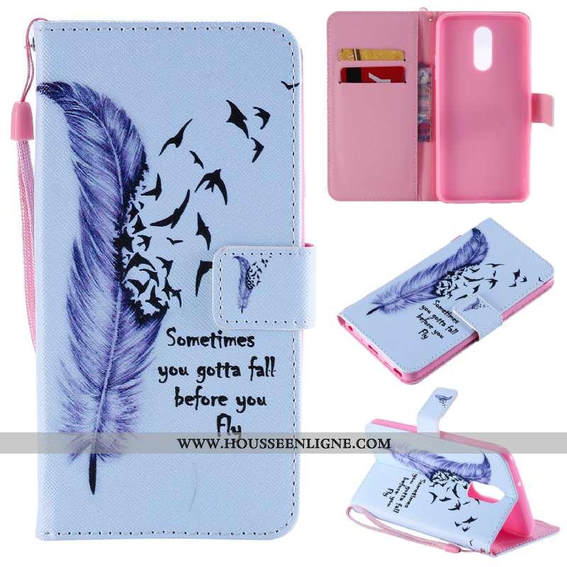 Étui Lg Q Stylus Cuir Protection Blanc Téléphone Portable Incassable Dessin Animé Carte Blanche
