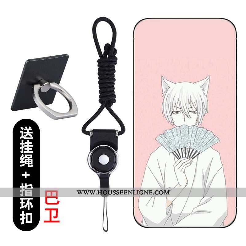 Étui Lg Q6 Créatif Dessin Animé Protection Coque Transparent Téléphone Portable Rose