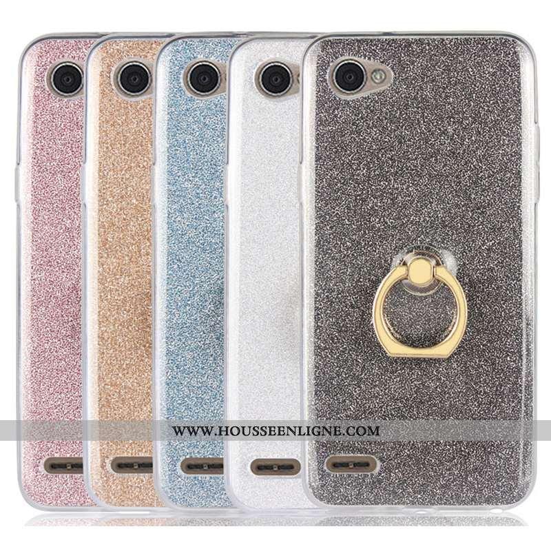 Étui Lg Q6 Fluide Doux Silicone Mini Téléphone Portable Gris Tout Compris