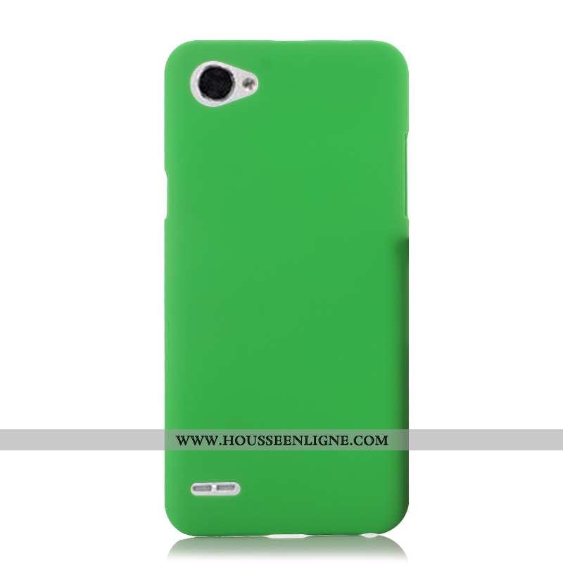 Étui Lg Q6 Protection Délavé En Daim Vert Coque Téléphone Portable Difficile Verte