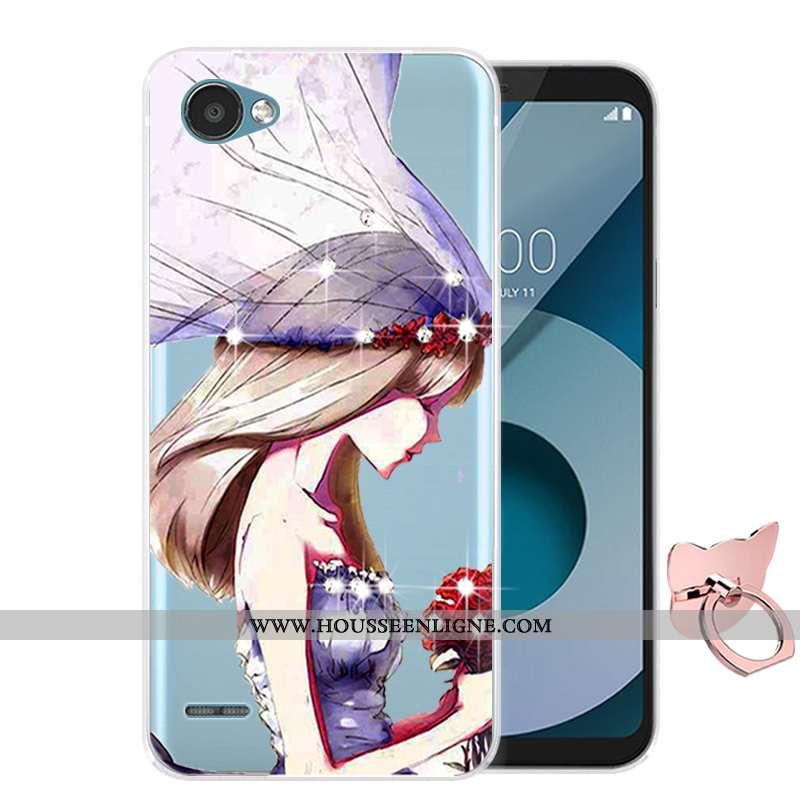 Étui Lg Q6 Silicone Protection Coque Violet Dessin Animé Téléphone Portable Incassable