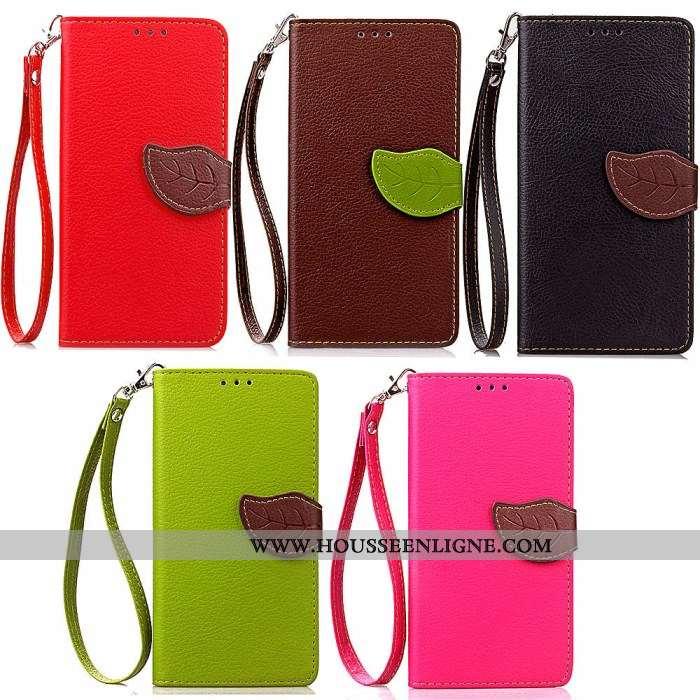 Étui Lg Q7 Portefeuille Cuir Rouge Téléphone Portable Carte Housse Protection
