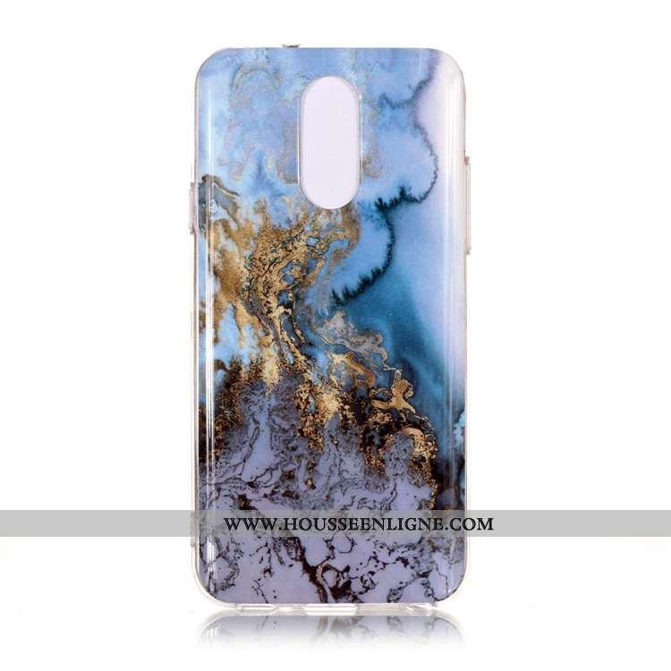 Étui Lg Q7 Protection Bleu Vent Téléphone Portable Grand Simple