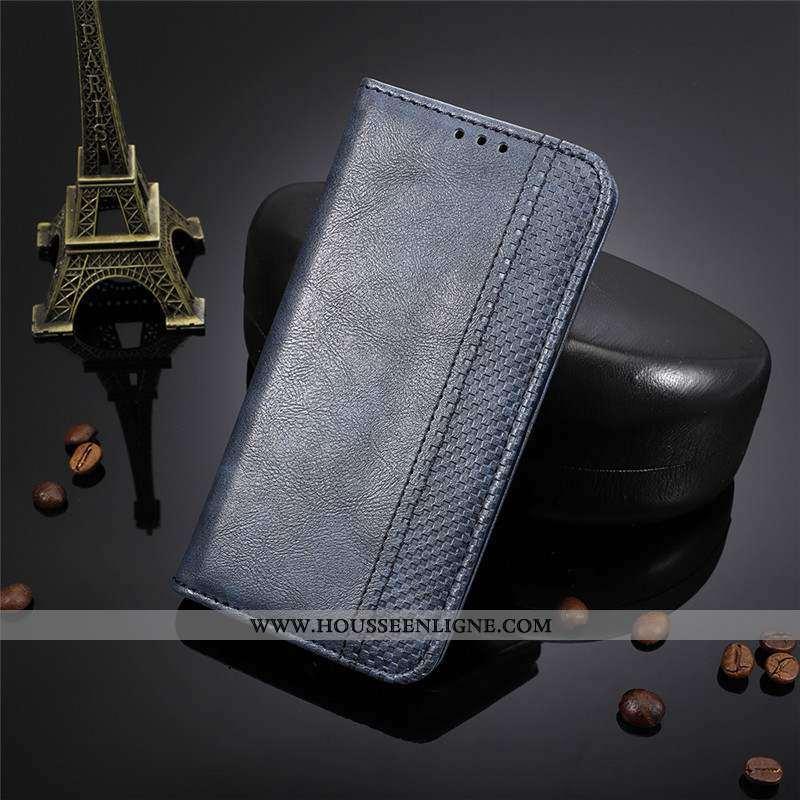 Étui Lg Q7 Protection Cuir Coque Bleu Marin Clamshell Tout Compris Bleu Foncé