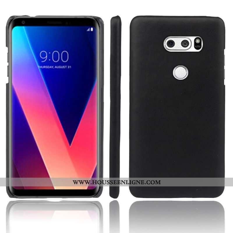 Étui Lg V30 Créatif Cuir Téléphone Portable Incassable Protection Coque Noir