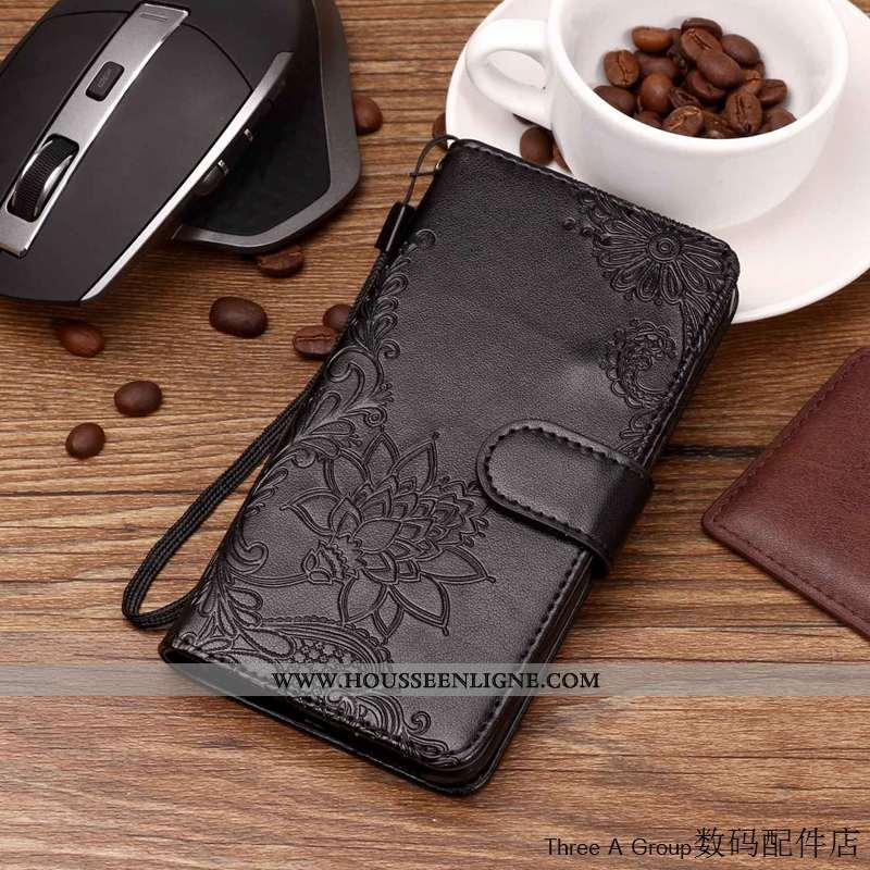 Étui Lg V30 Cuir Fluide Doux Coque Téléphone Portable Incassable Housse Tout Compris Noir