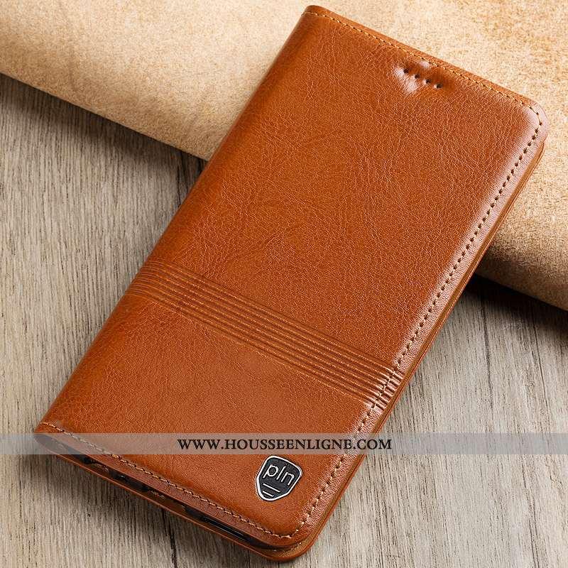 Étui Lg V30 Cuir Véritable Cuir Protection Housse Téléphone Portable Incassable Marron