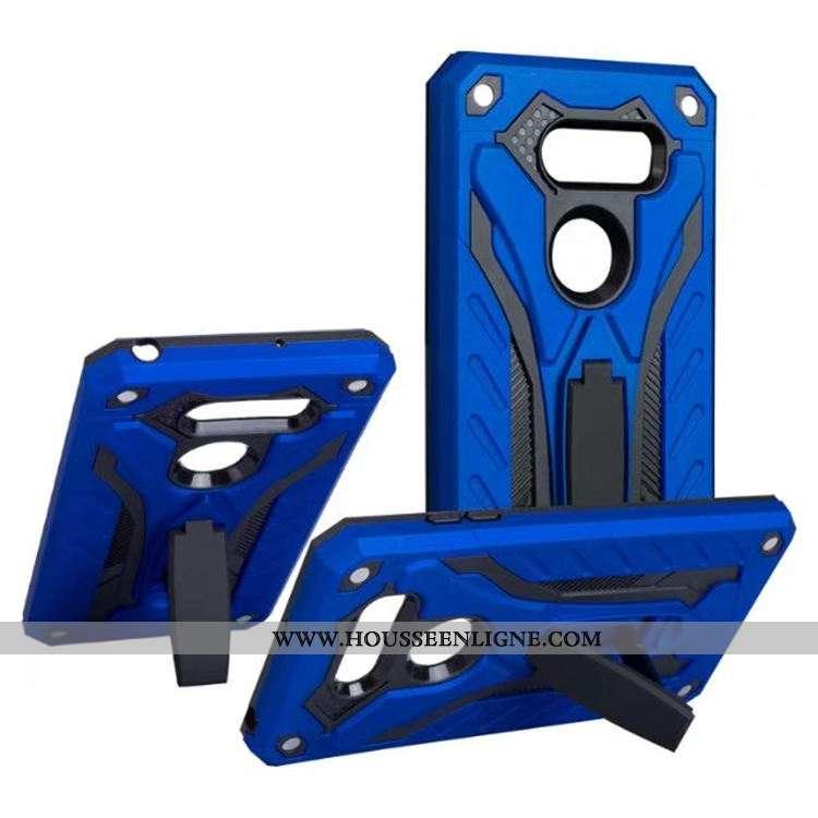 Étui Lg V30 Protection Outdoor Bleu Coque Support Vent Europe