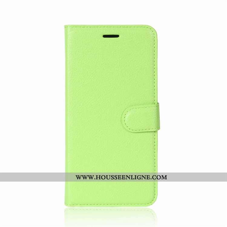 Étui Lg V30 Protection Portefeuille Incassable Housse Téléphone Portable Coque Verte