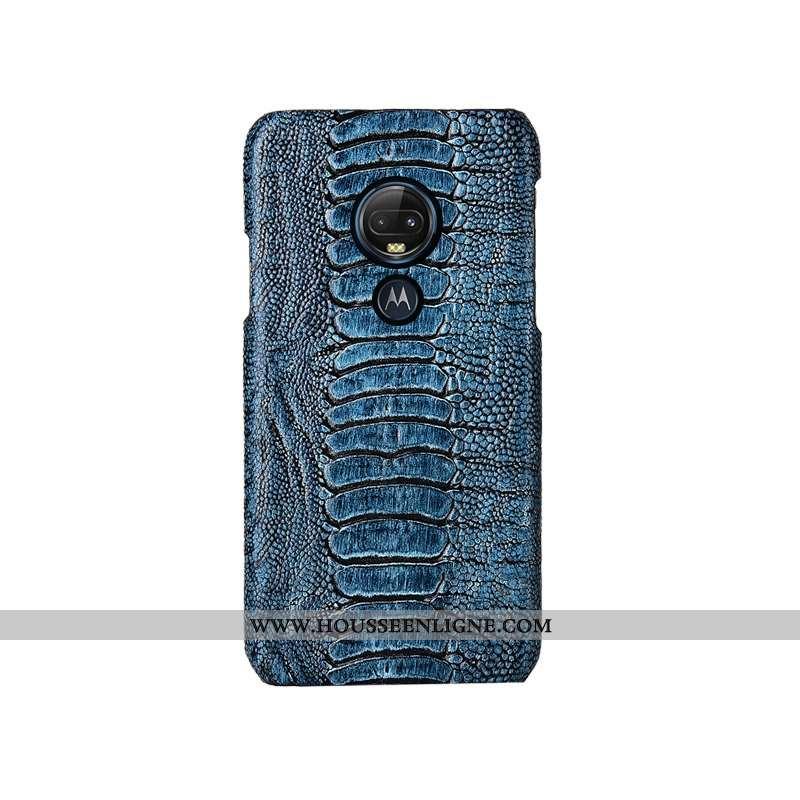Étui Moto G7 Plus Personnalité Créatif Personnalisé Cuir Véritable Téléphone Portable Couvercle Arri