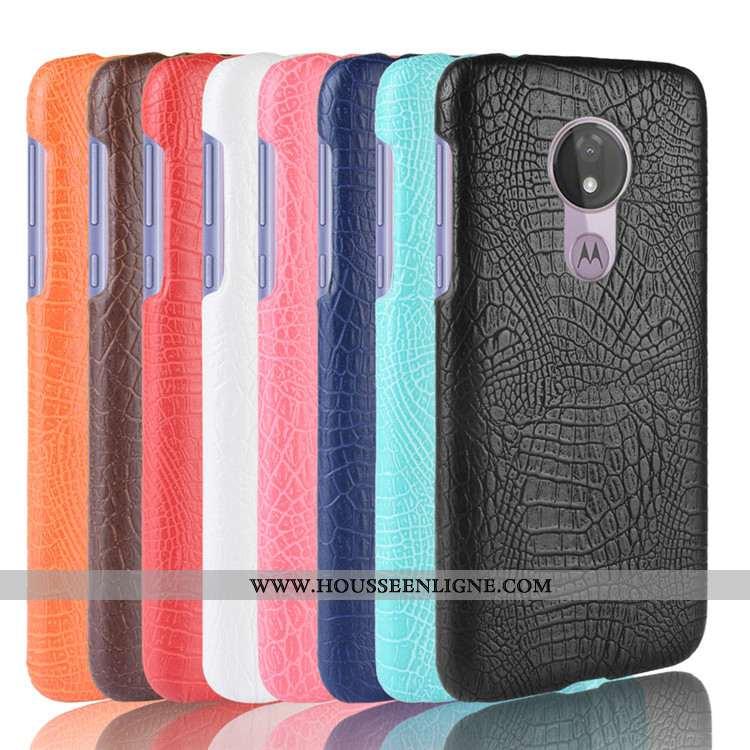 Étui Moto G7 Power Créatif Modèle Fleurie Coque Business Téléphone Portable Noir