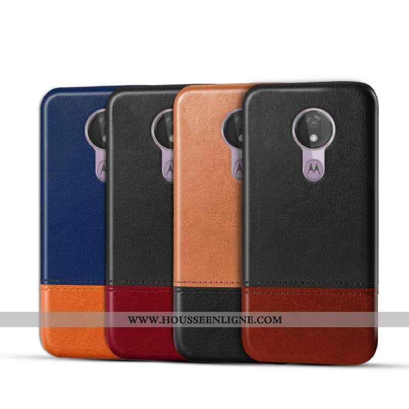 Étui Moto G7 Power Protection Cuir Véritable Coque Noir Téléphone Portable Business Qualité