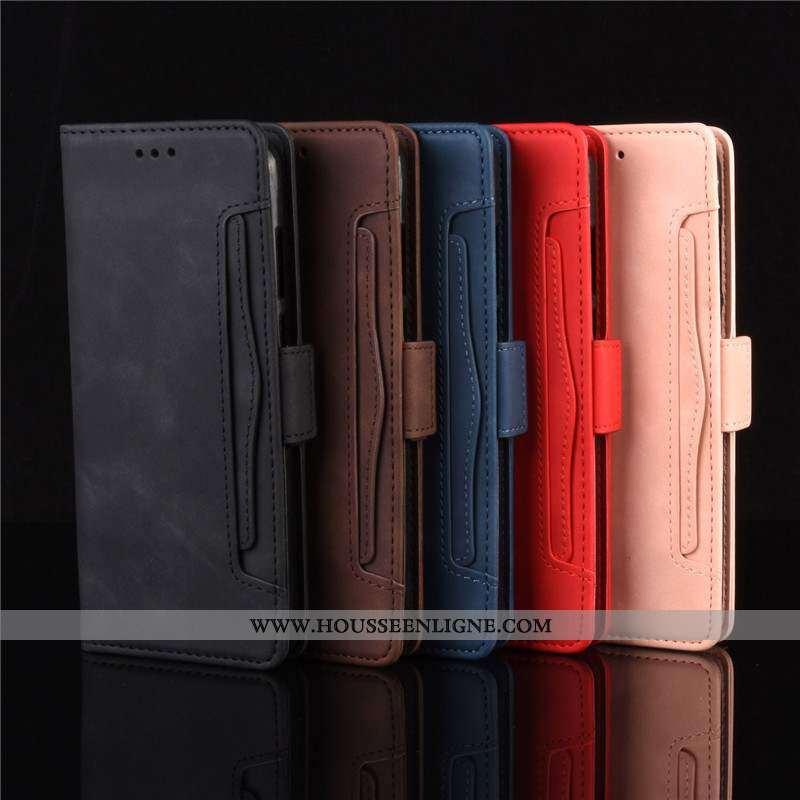Étui Moto G8 Plus Protection Cuir Housse Téléphone Portable 2020 Noir