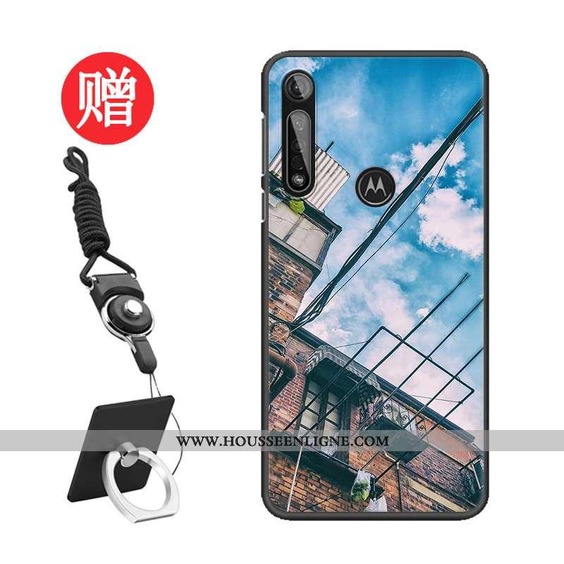 Étui Moto G8 Plus Tendance Protection Modèle Téléphone Portable Bleu Coque Tempérer