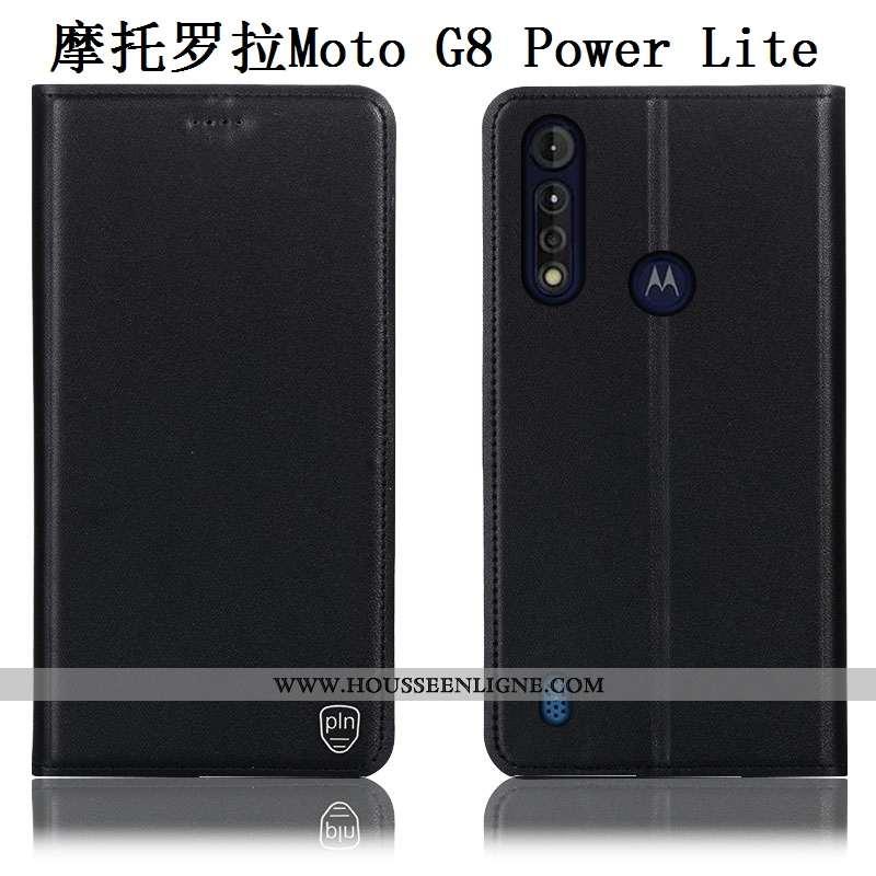 Étui Moto G8 Power Lite Modèle Fleurie Protection Housse Incassable Noir Téléphone Portable