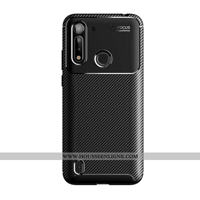 Étui Moto G8 Power Lite Protection Créatif Simple Fluide Doux Nouveau Silicone Coque Noir