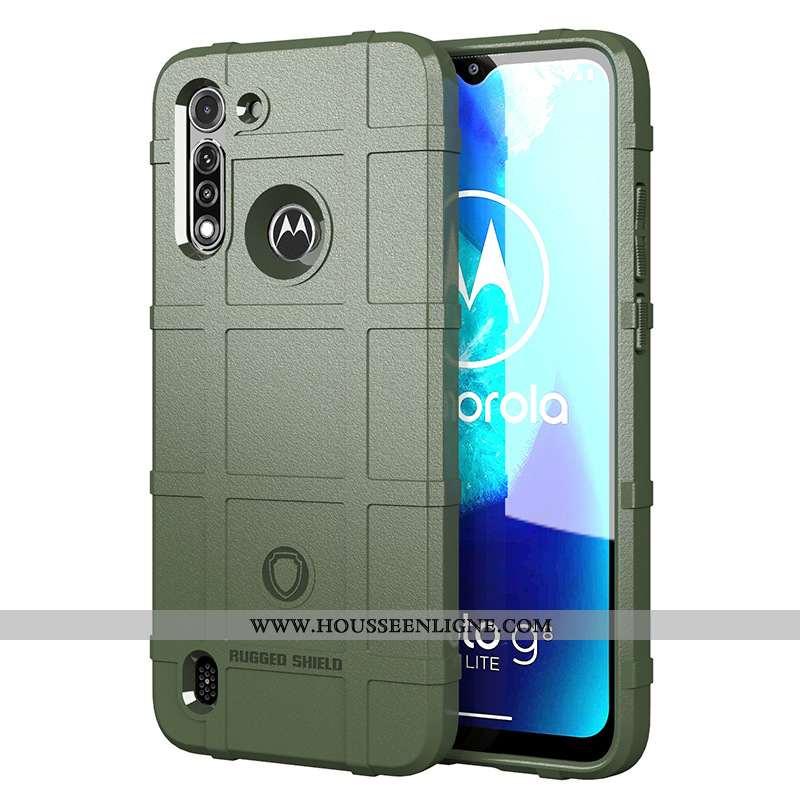 Étui Moto G8 Power Lite Protection Silicone Téléphone Portable Vert Coque Incassable Verte