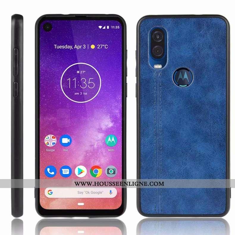 Étui Motorola One Vision Protection Bleu Marin Coque Tout Compris Téléphone Portable Incassable Bleu