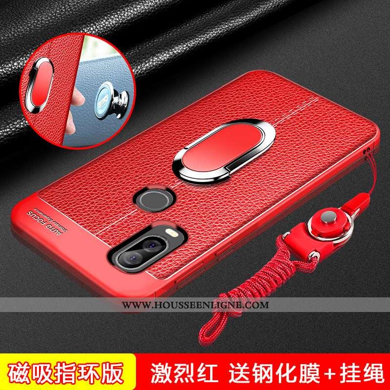 Étui Motorola One Vision Silicone Protection Coque Rouge Nouveau Téléphone Portable