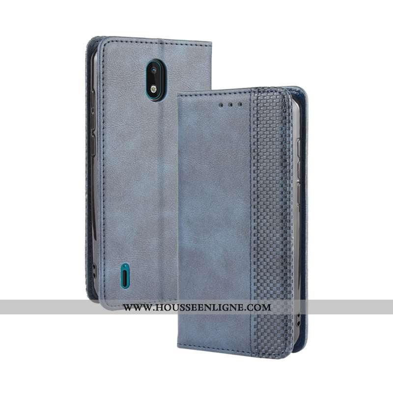 Étui Nokia 1.3 Cuir Protection Portefeuille Coque Boucle Magnétique Téléphone Portable Bleu