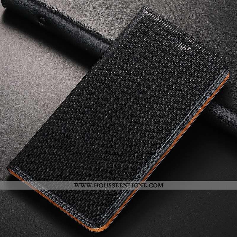 Étui Nokia 1 Plus Cuir Modèle Fleurie Protection Véritable Noir Jours Incassable