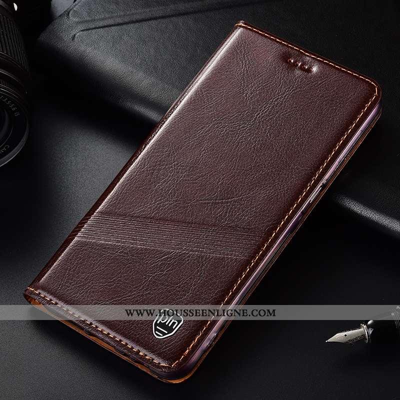 Étui Nokia 1 Plus Cuir Véritable Protection Coque Téléphone Portable Housse Marron