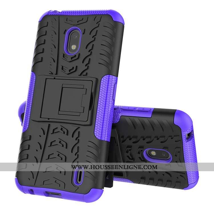 Étui Nokia 2.2 Silicone Protection Bordure Violet Coque Incassable