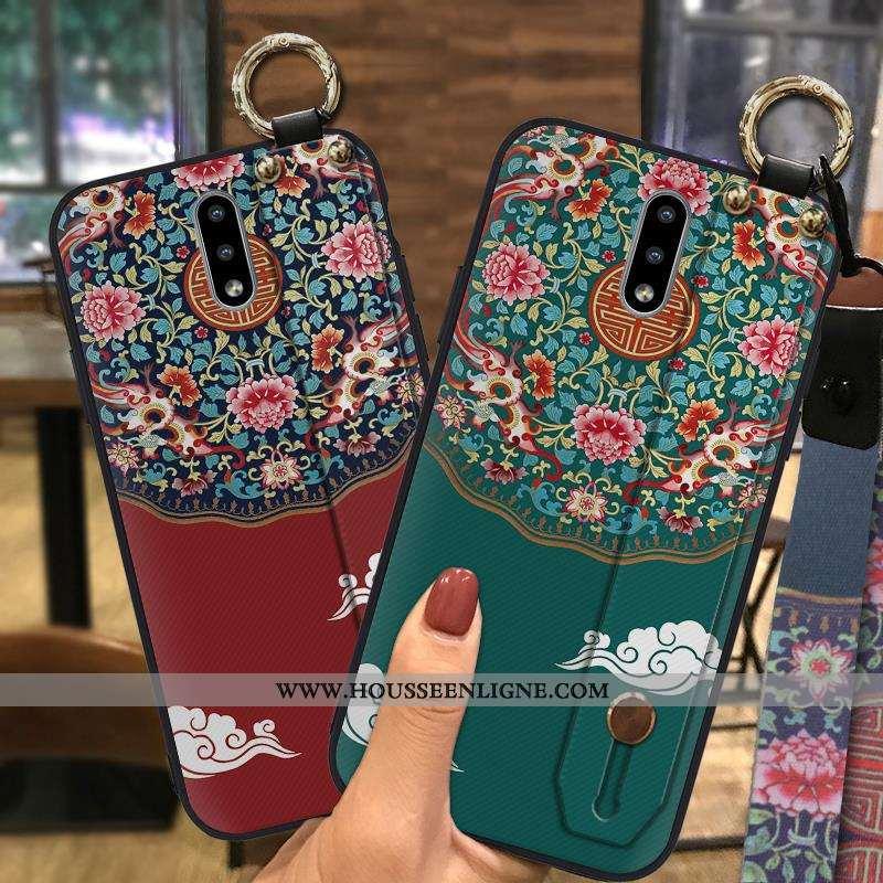 Étui Nokia 2.3 Vintage Fluide Doux Téléphone Portable Support Style Chinois Vert Ornements Suspendus