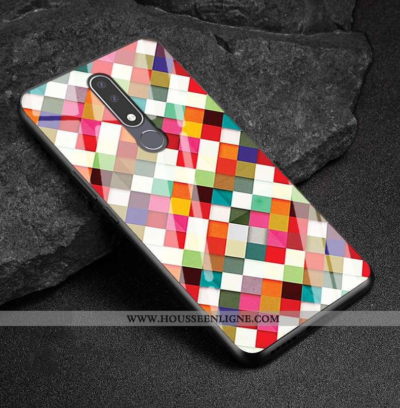 Étui Nokia 3.1 Plus Protection Verre Simple Fluide Doux Multicolore Silicone Personnalisé Coloré