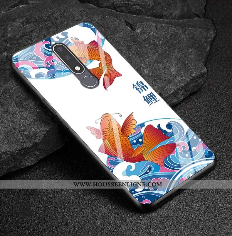 Étui Nokia 3.1 Plus Verre Délavé En Daim Tout Compris Coque Richesse Nouveau Téléphone Portable Blan