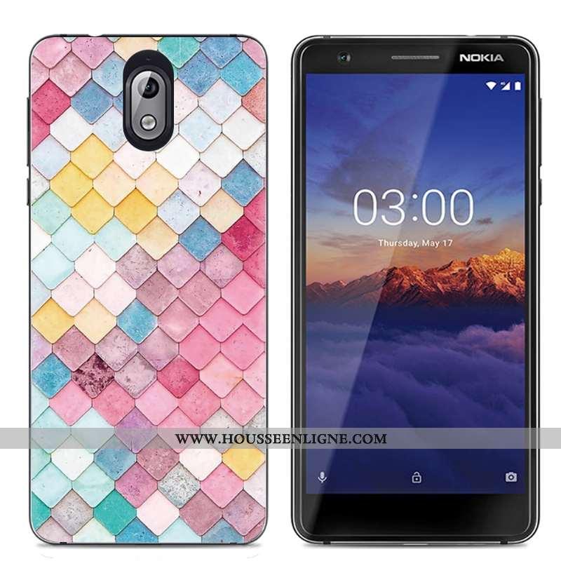 Étui Nokia 3.1 Protection Transparent Téléphone Portable Coque Créatif Multicolore Coloré
