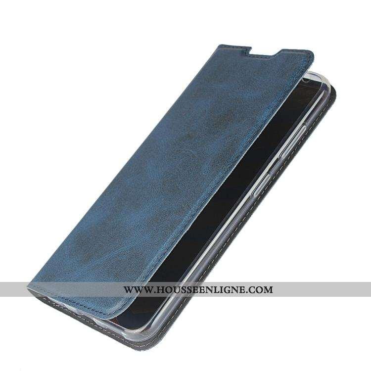 Étui Nokia 3.2 Cuir Protection Téléphone Portable Bleu Incassable Clamshell