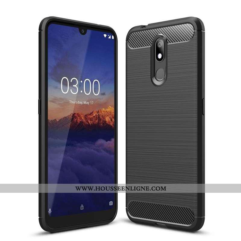 Étui Nokia 3.2 Fluide Doux Silicone Noir Fibre Tout Compris Protection