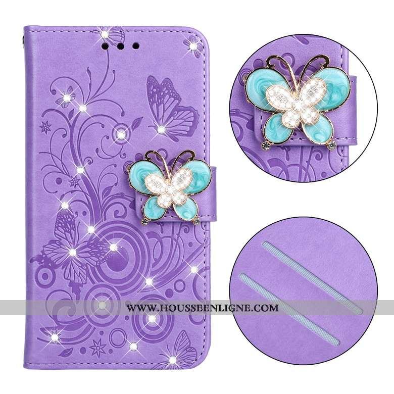 Étui Nokia 3.2 Protection Cuir Tout Compris Téléphone Portable Fluide Doux Coque Violet