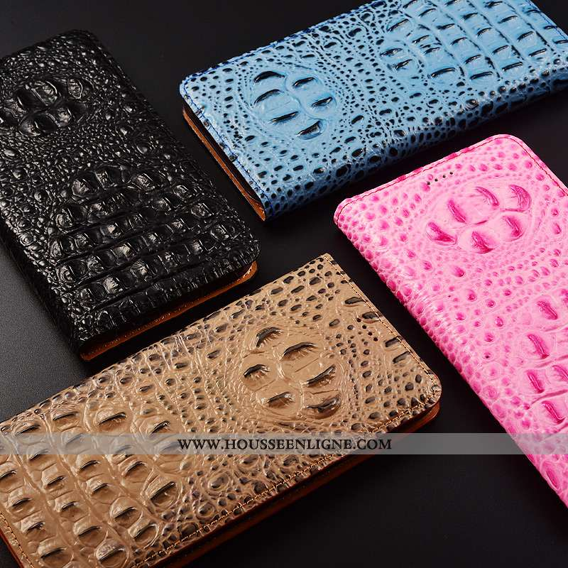 Étui Nokia 4.2 Cuir Protection Véritable Téléphone Portable Crocodile Incassable Rose