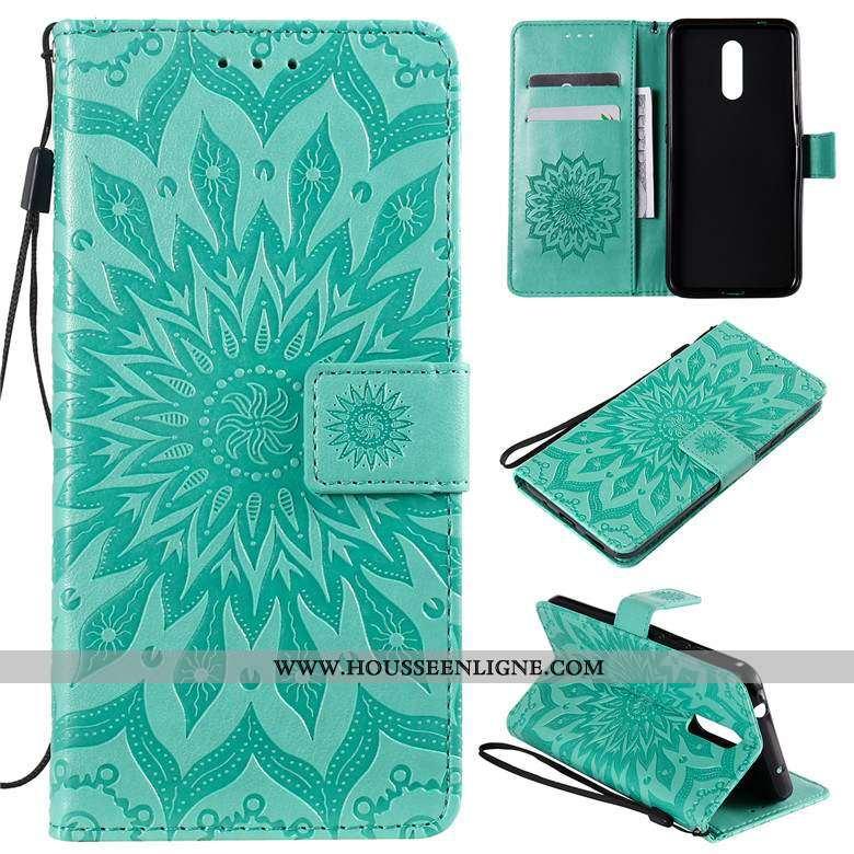 Étui Nokia 4.2 Cuir Protection Vert Téléphone Portable Coque Verte