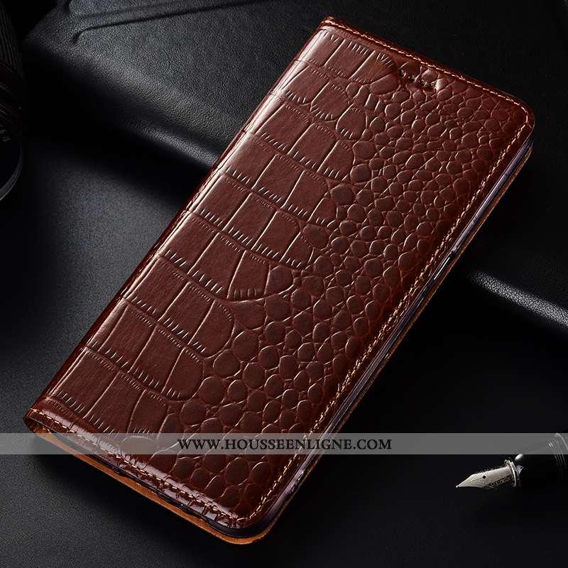 Étui Nokia 4.2 Protection Cuir Véritable Téléphone Portable Housse Crocodile Coque Marron