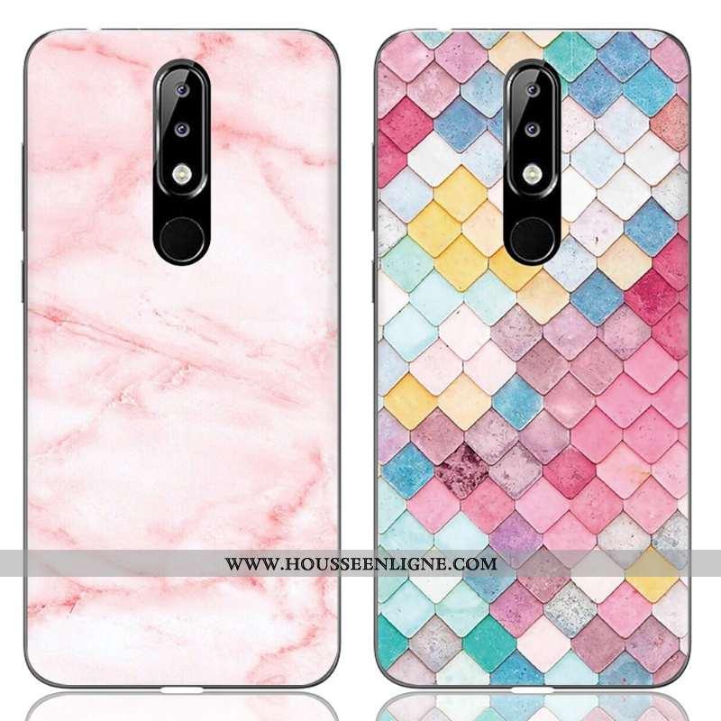 Étui Nokia 5.1 Plus Dessin Animé Fluide Doux Protection Créatif Téléphone Portable Incassable Rose