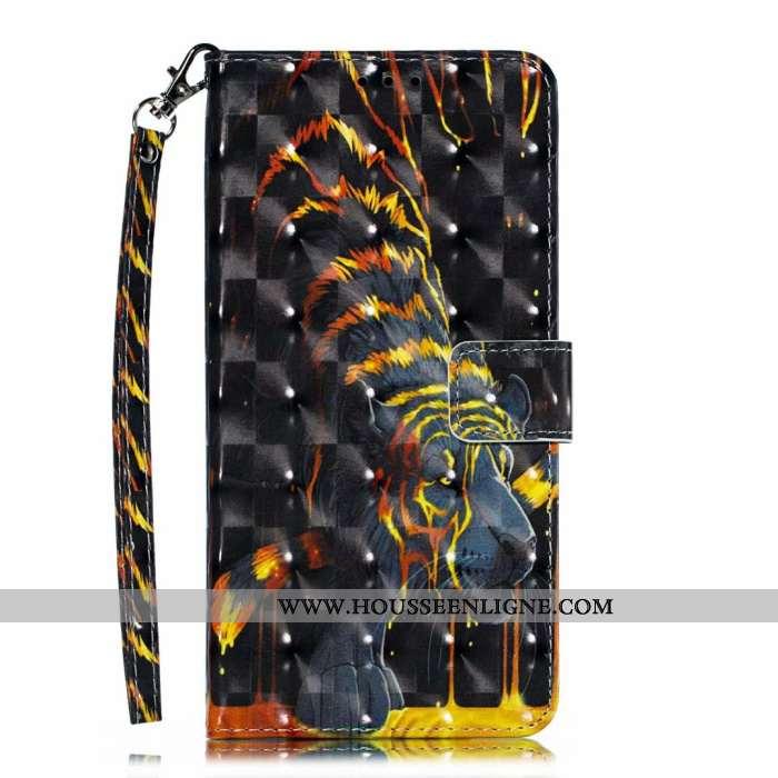 Étui Nokia 5.1 Plus Portefeuille Dessin Animé Mignonne Téléphone Portable 2020 Noir