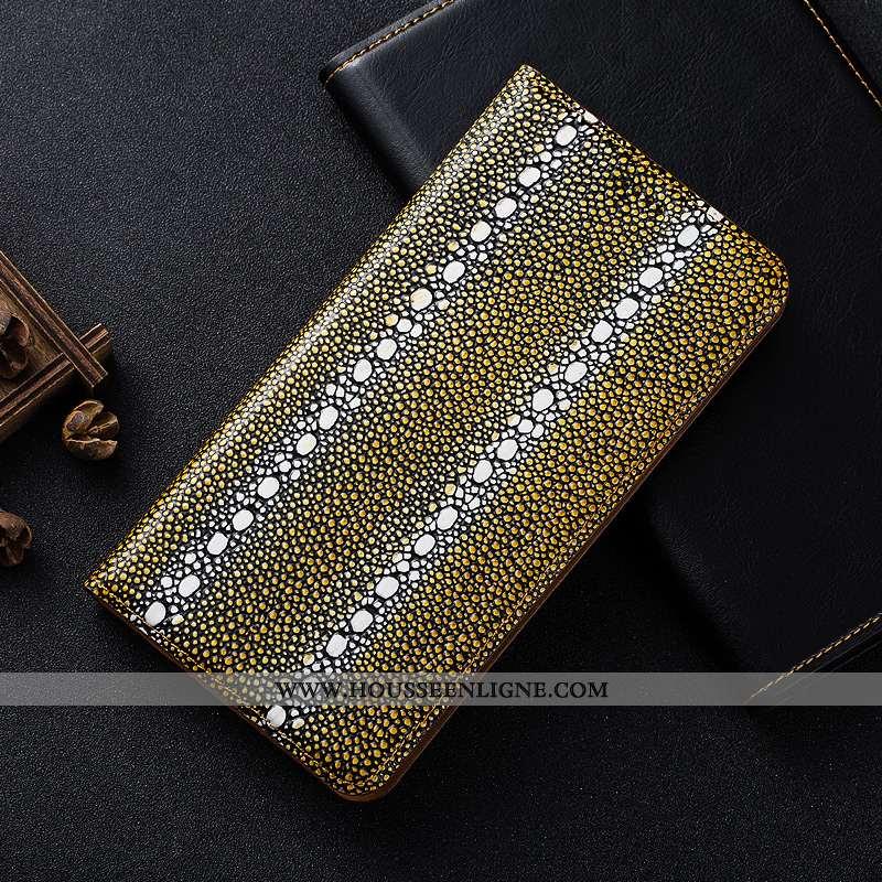 Étui Nokia 5.1 Plus Protection Cuir Véritable Jaune Incassable Téléphone Portable Coque