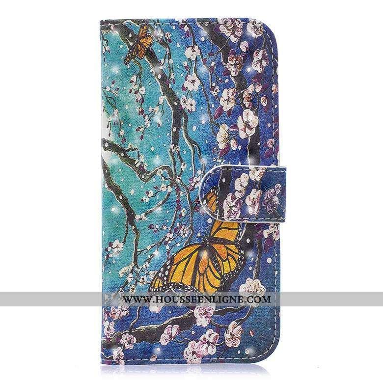Étui Nokia 5.1 Protection Cuir Bleu Incassable Peinture Housse