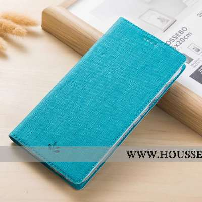 Étui Nokia 5.1 Protection Cuir Téléphone Portable Clamshell Bleu Coque