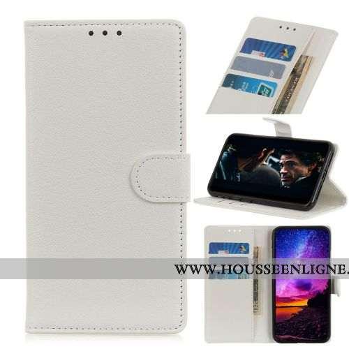 Étui Nokia 5.1 Protection Portefeuille Téléphone Portable Coque Blanc Incassable Blanche