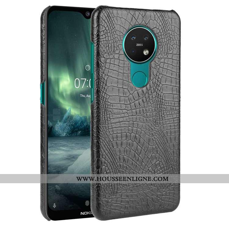 Étui Nokia 5.3 Modèle Fleurie Protection Cuir Crocodile Téléphone Portable Noir