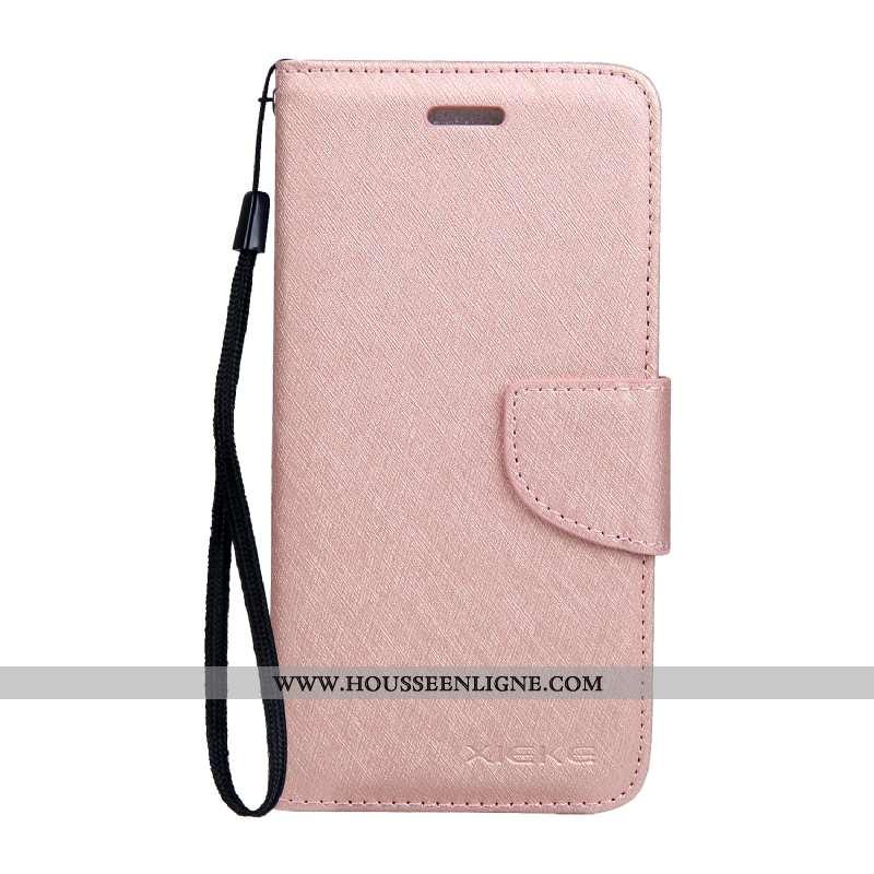 Étui Nokia 6.1 Modèle Fleurie Protection Soie Mulberry Mois Téléphone Portable Cuir Coque Rose