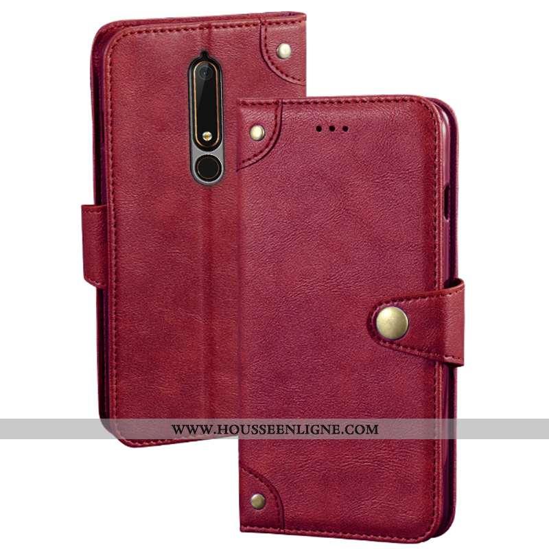 Étui Nokia 6.1 Protection Créatif Rouge Coque 2020 Housse Carte