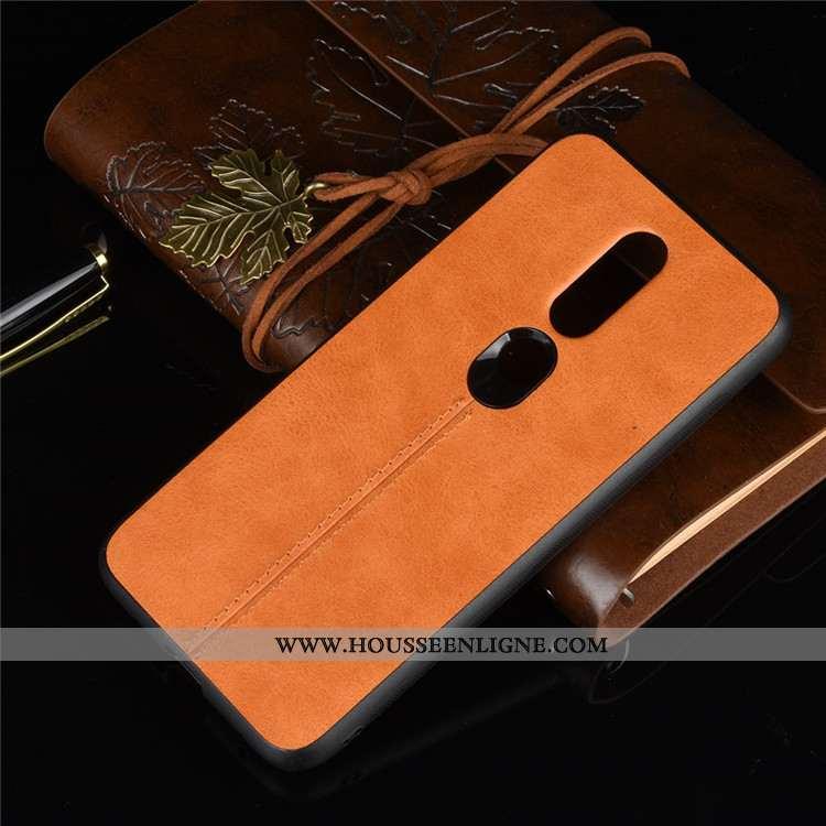 Étui Nokia 6.1 Protection Cuir Téléphone Portable Coque Difficile Jaune