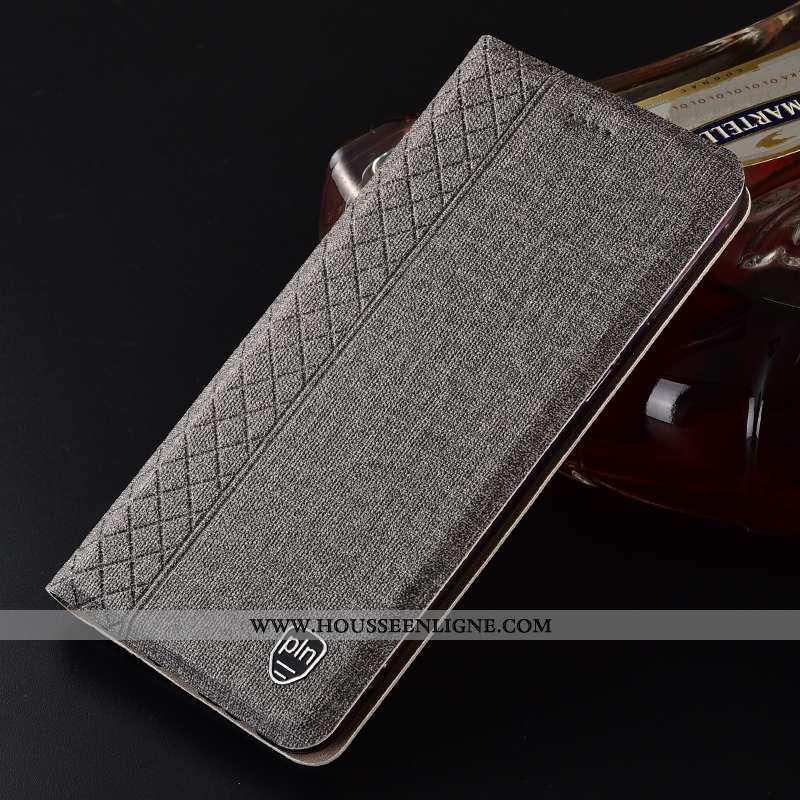 Étui Nokia 6.2 Cuir Protection Gris Lin Tout Compris Coque Téléphone Portable